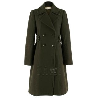 Stella McCartney Green Wool Double Breasted Coat