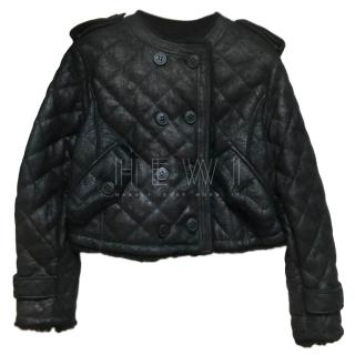 Burberry Prorsum Leather Quilted Jacket