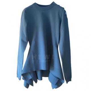 Sonia Rykiel Blue Knit Asymmetric Sweater
