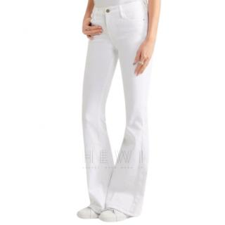 Frame White Denim Le High Flared Jeans