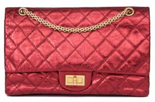Chanel Metallic Burgundy Reissue 2.55 Bag