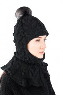 FurbySD merino wool and chinchilla balaclava