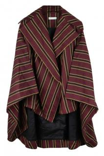 Palmer Harding striped twill sleeved cape coat