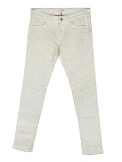 Isabel Marant Etoile Broderie Anglaise white jeans