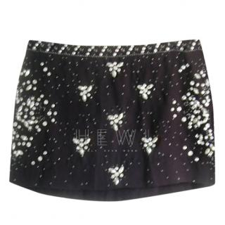 Ba&sh Black Rhinestone Beaded Mini Skirt