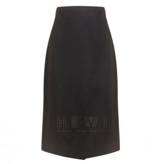 Celine Brown Velvet Pencil Skirt
