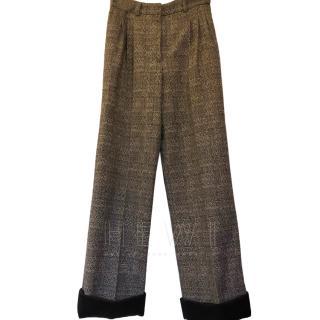 Chanel Tweed Wide Leg Trousers