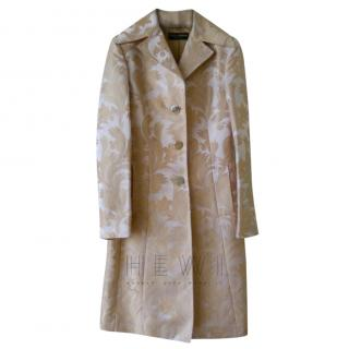 Dolce & Gabbana Gold Brocade Coat