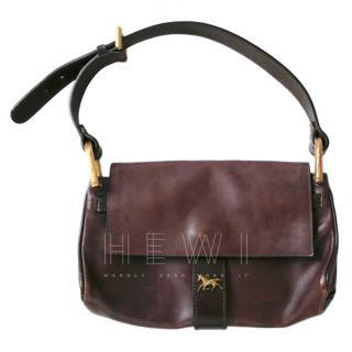 Chloe Vintage Brown Leather Shoulder Bag
