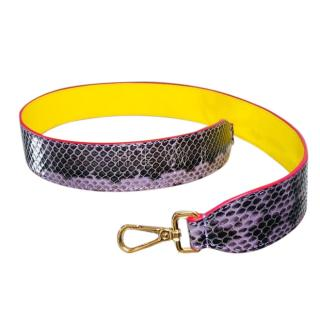 Fendi Purple Snakeskin & Leather Bag Strap