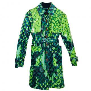 Diane Von Furstenberg Green Rain Coat