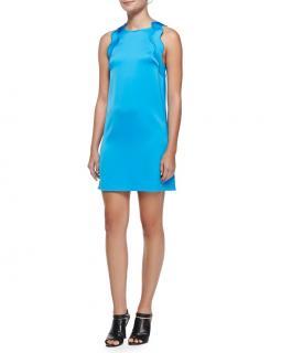 3.1 Philip Lim Blue Scallop Trim MIni Dress