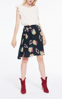 Ba&Sh Jupe Valda Ruched Skirt