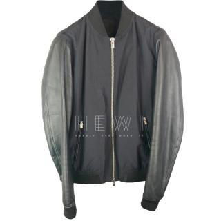 The Kooples Navy Blue 'Slippery Technical' Bomber jacket