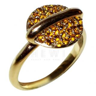 Fiorelli pave citrine and gold ring