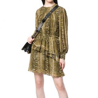 Isabel Marant Etoile Snakeskin Print Dress