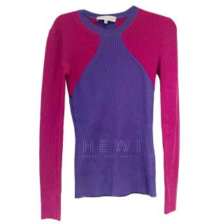 Jonathan Saunders Ribbed Knit Colourblock Sweater