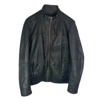Boss Orange Calf Leather Biker Jacket