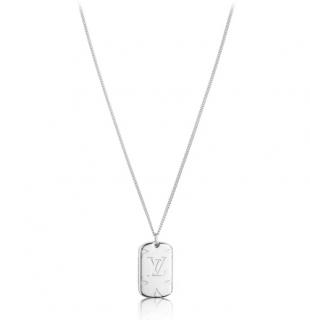 Louis Vuitton Monogram locket necklace
