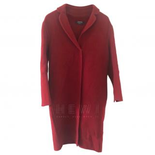 S'Max Mara Red Virgin Wool Coat