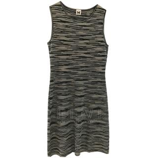 M Missoni Black & White Stretch Knit Dress