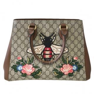 Gucci Monogram Supreme Embroidered Tote Bag