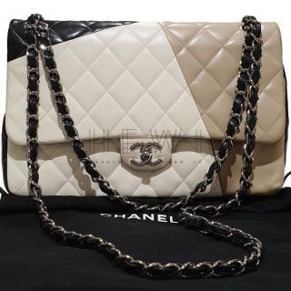Chanel Colour Block Double Flap Bag
