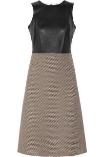 McQ Leather & Tweed Sleeveless Dress