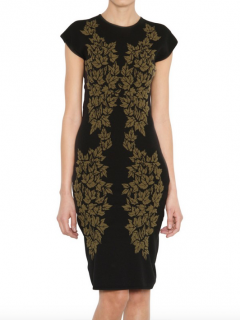 MCQ McQueen leaf pattern body con dress
