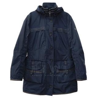 Wellensteyn Blue Hooded Raincoat