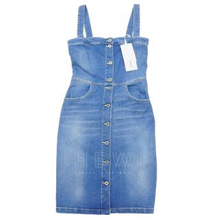 Dondup Denim Pinafore Dress