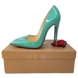 Christian Louboutin Aquamarine So Kate 120 Patent High Heels