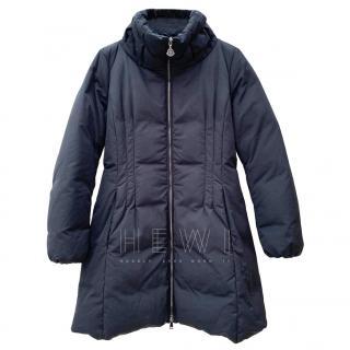Moncler Black A line Down Coat