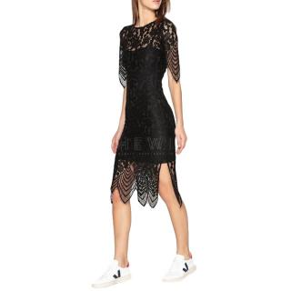 Essentiel Antwerp Asymmetric Lace Fitted Dress