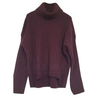 Polo Ralph Lauren Burgundy Red Roll Neck Jumper