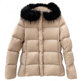 Joseph Beige Short Puffer Jacket