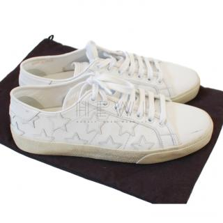Saint Laurent Star Embellished Leather Sneakers