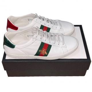 Gucci Bee Embroidered Ace Sneakers