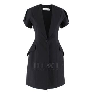 Christian Dior Black Asymmetric Blazer Dress