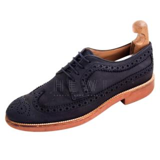 Tod's Blue Suede Brogues