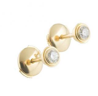 Cartier Yellow Gold Legers Diamond Earrings