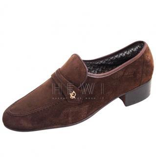 Dior brown suede moccasin loafer