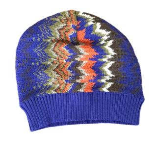 Missoni Purple Zig Zag Knit Hat