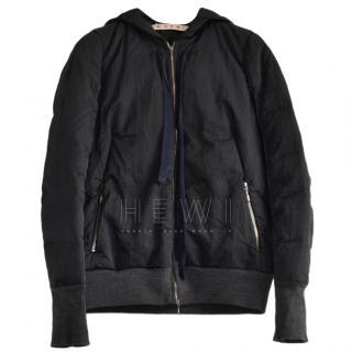 Marni black shell hooded jacket