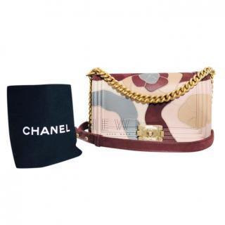 Chanel Colour Block Camellia Le Boy Bag