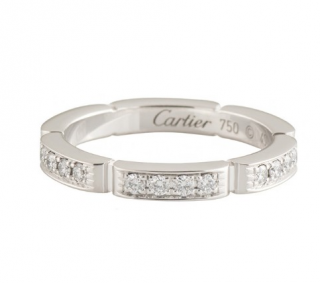 Cartier White Gold Pave Panthere Ring