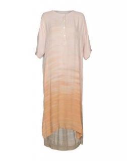 Raquel Allegra short-sleeve Henley tunic dress