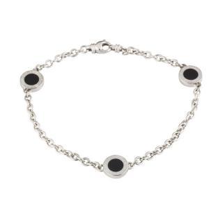 Bvlgari Onyx Charm Bracelet