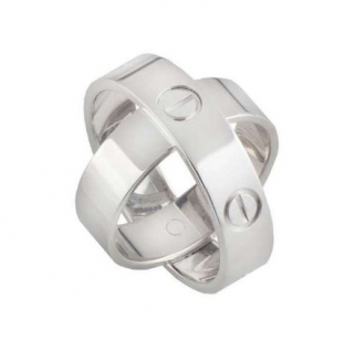 Cartier White Gold 3D Double Love Ring