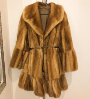Bespoke Natural Mink Fur Coat